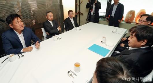 [사진]이통3사 대표와 만난 한상혁 방통위원장