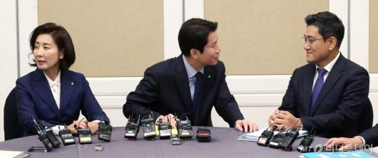 [사진]여야3당 원내대표, 검찰개혁 법안 논의