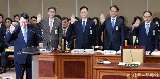 [사진]선서하는 윤석열 검찰총장
