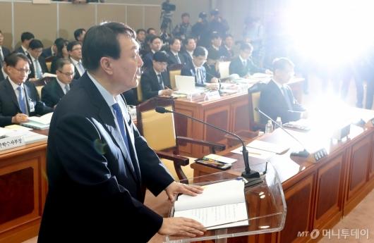 [사진]국감 출석한 윤석열 총장