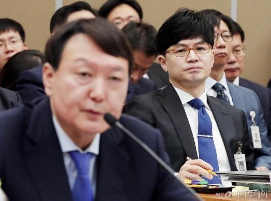 [사진]국감 출석한 한동훈 부장검사
