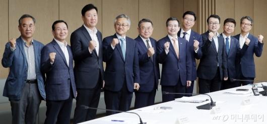 [사진]혁신성장 민관협의회 '파이팅!'