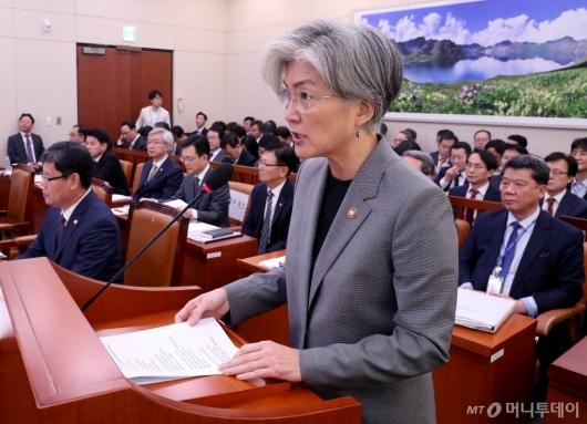 [사진]국정감사 출석한 강경화 장관