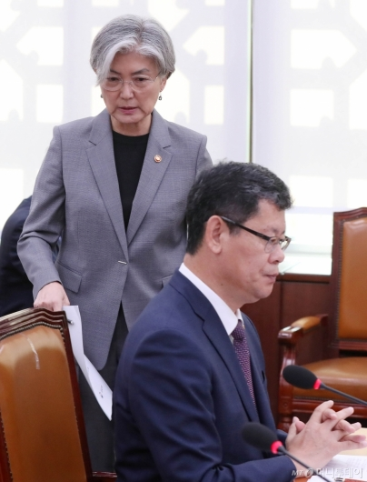 [사진]국감 출석한 강경화-김연철