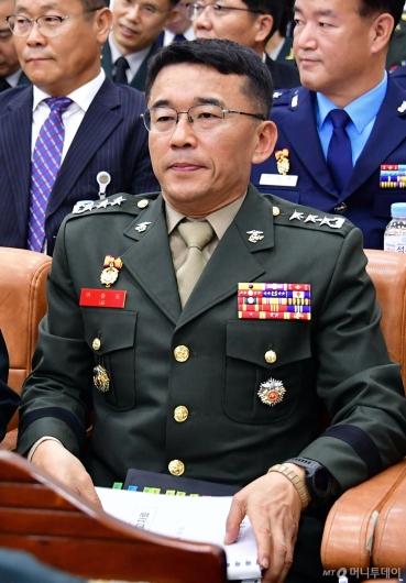 [사진]국정감사 출석한 이승도 해병대 사령관