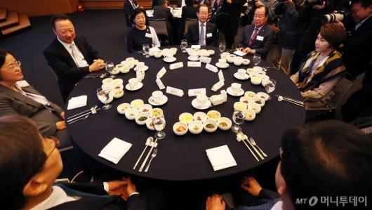 [사진]CEO 조찬간담회 참석한 조성욱 공정거래위원장