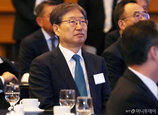 [사진]윤부근 삼성전자 부회장, CEO 간담회 참석