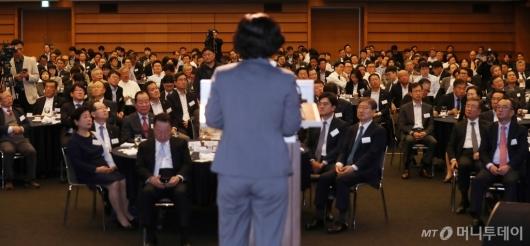 [사진]조성욱 공정거래위원장 강연 듣는 CEO들