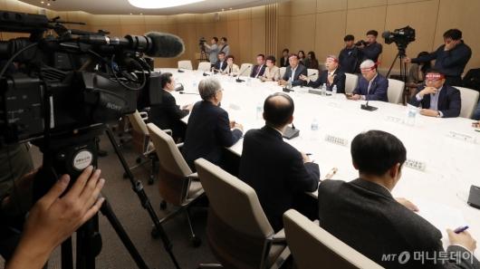[사진]농업인 단체, 회의 언론 공개 요청