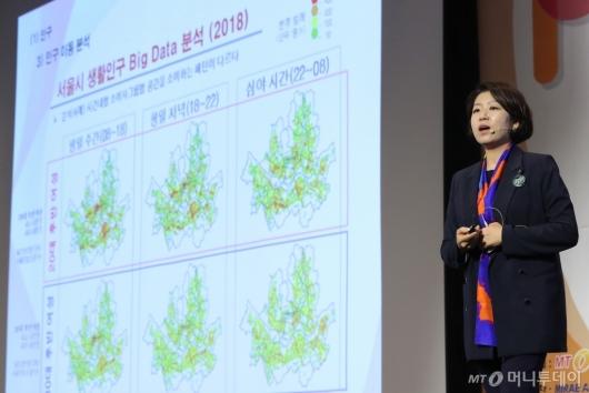 [사진]'인구변화와 공간 트렌드' 주제발표하는 김희정 상무