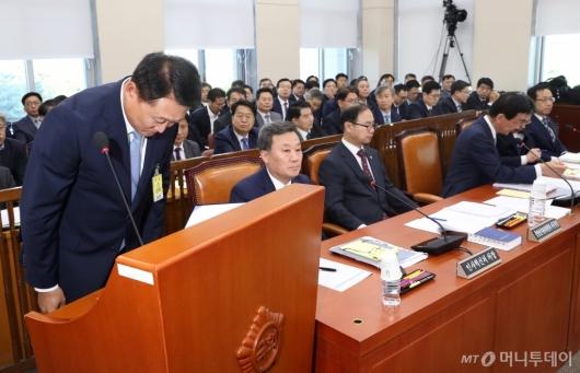[사진]이철성, 행안위 국감 증인 출석