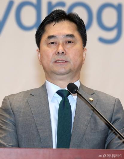 [사진]2019국제수소경제포럼 참석한 김종민 의원
