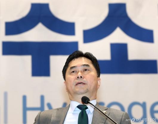 [사진]2019 IPHE 국제수소경제포럼 참석한 김종민