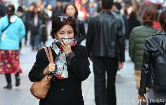 [사진]올가을 가장 쌀쌀한 아침