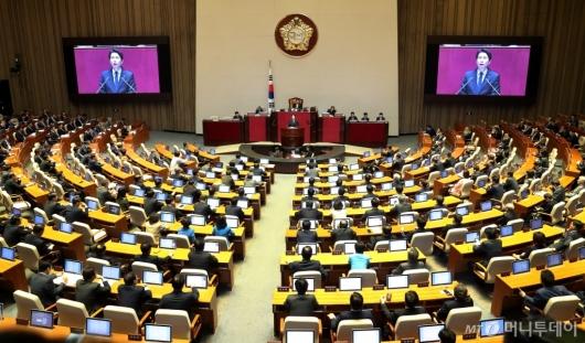 [사진]국회본회의 교섭단체 대표연설