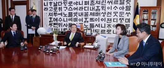 [사진]문희상 의장과 교섭단체 원내대표 회동