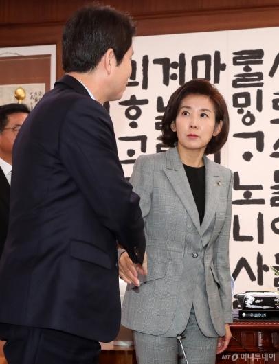 [사진]이인영 바라보는 나경원