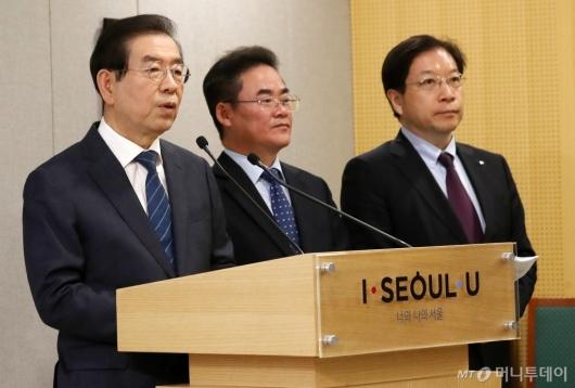 [사진]질문에 답하는 박원순 서울시장