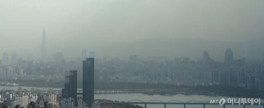 [사진]뿌옇게 보이는 서울 도심