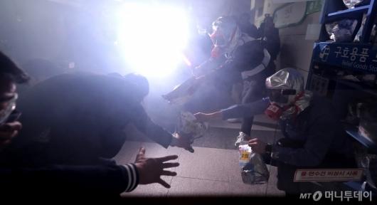 [사진]'지하철 화재 훈련'
