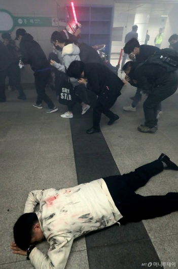 [사진]'대피하는 시민들'