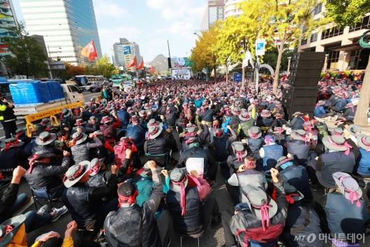 [사진]서울지역 건설노조 총파업 결의대회