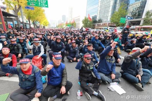 [사진]서울지역 건설노조 총파업 결의대회 개최