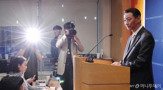 [사진]권용원 협회장 '갑집논란에도 직무 이행'