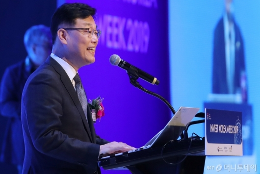 [사진]박태성 무역투자실장 '외국인 투자주간' 환영사