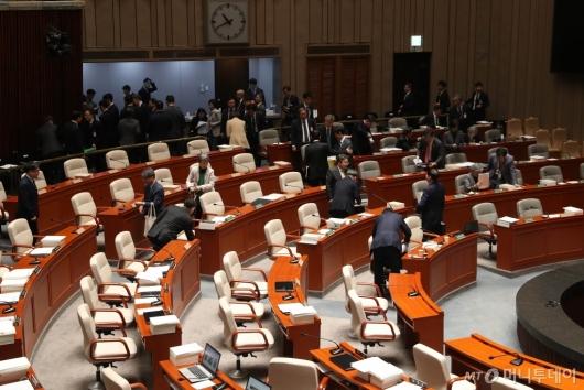 [사진]연기된 국회 예결위