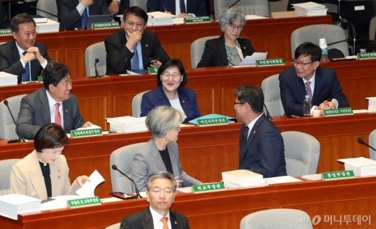 [사진]예결위 출석한 김상조