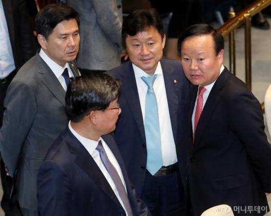 [사진]국회 예결위 대화