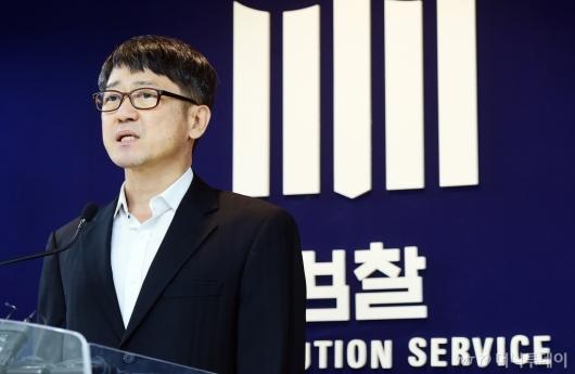 [사진]출범 각오 밝히는 임관혁 세월호 참사 특별수사단장