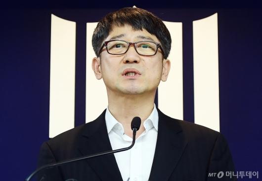 [사진]질의에 답하는 임관혁 세월호 참사 특별수사단장