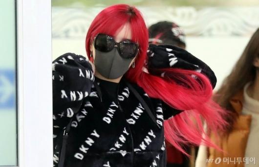 [사진]박봄 '빨강긴머리 휘날리며'
