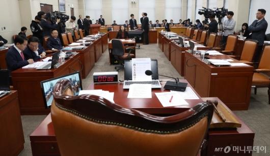 [사진]정회된 국방위