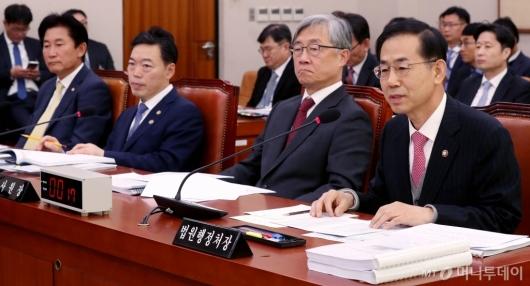 [사진]국회 법사위 출석한 법원행정처장