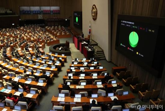 [사진]소방공무원법 전부개정법률안 국회 가결