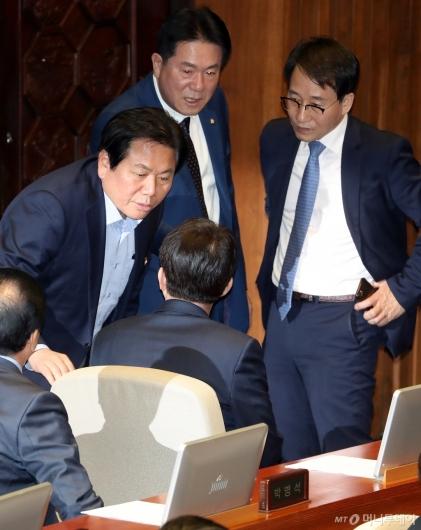 [사진]논의하는 여야 원내