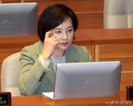 [사진]국회 본회의 출석한 유은혜