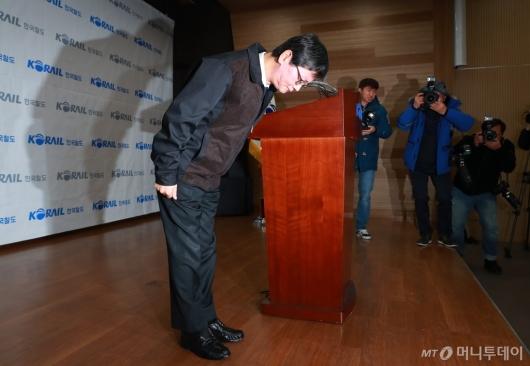 [사진]대국민 사과하는 손병석 코레일 사장