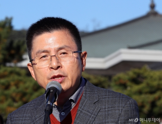 [사진]황교안 대표, 대국민호소문 발표