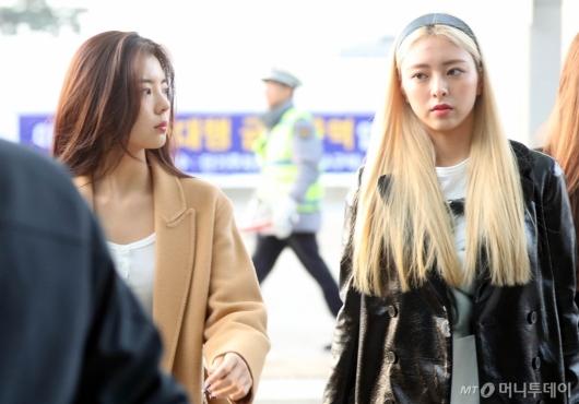 [사진]리아-유나 '차분한 출국'