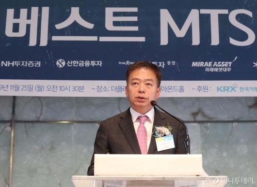 [사진]엄재욱 코스콤 전무이사, 제7회 베스트MTS어워드 시상식 축사