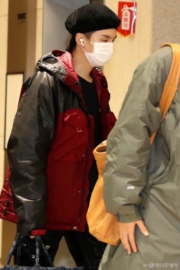 [사진]BTS 슈가 '차분한 입국'