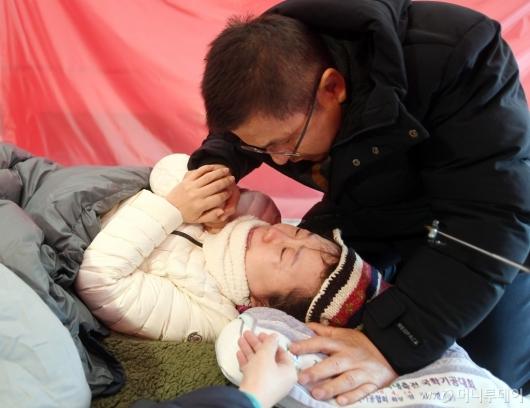 [사진]정미경 격려하는 황교안