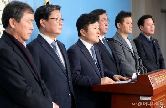 [사진]민주당 예결위 의원들 기자회견