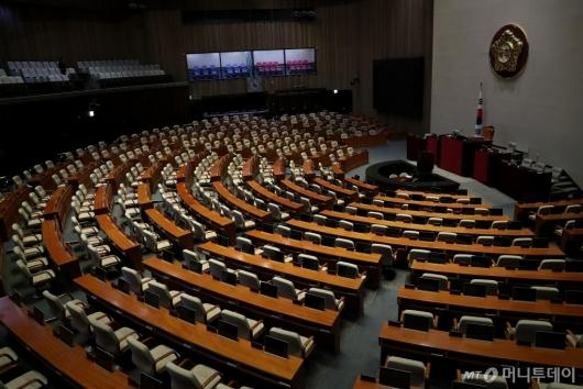 [사진]텅빈 국회 본회의장
