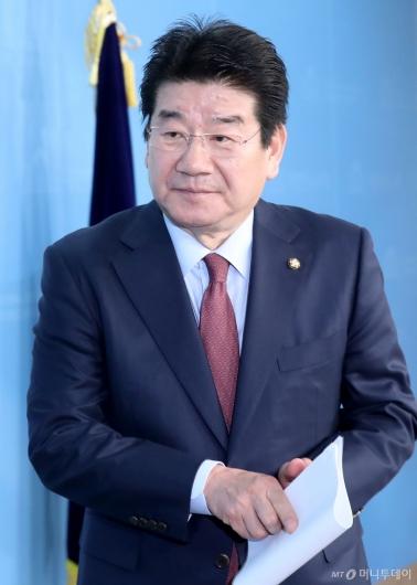 [사진]강석호, 한국당 원내대표 출마선언