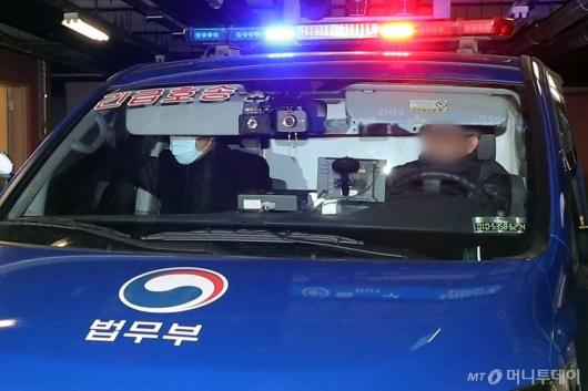 [사진]구치소 향하는 박근혜 전 대통령 탑승 호송차량